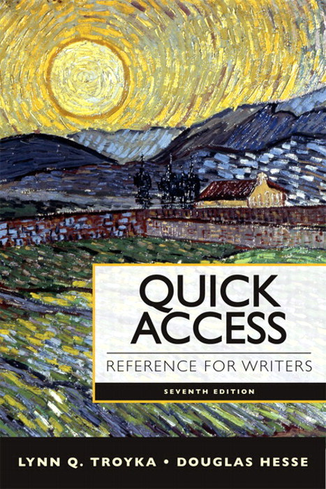 Quick Access Reference for Writers with MyWritingLab with eText -- Access Card Package, 7th Edition