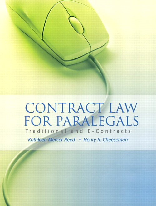 Contract Law for Paralegals: Traditional and E-Contracts, CourseSmart eTextbook
