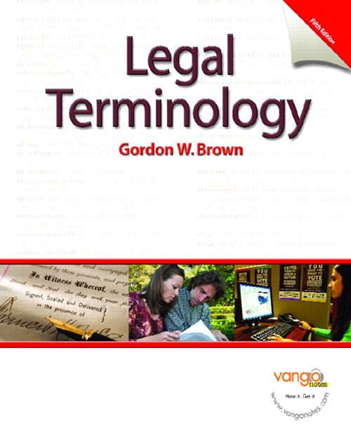 Legal Terminology, CourseSmart eTextbook, 5th Edition