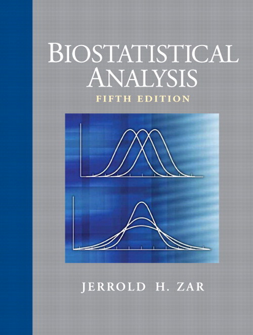 Biostatistical Analysis, CourseSmart eTextbook, 5th Edition