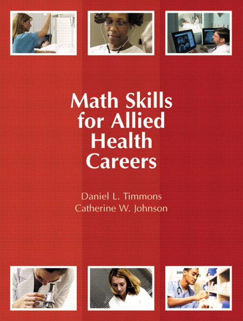 Math Skills for Allied Health Careers, CourseSmart eTextbook