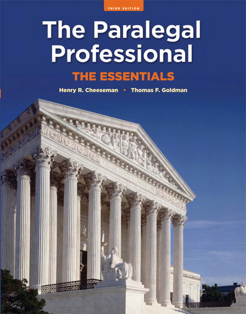 Paralegal Professional, The: The Essentials, 3rd Edition