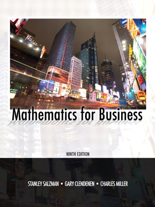 Mathematics for Business, CourseSmart eTextbook, 9th Edition