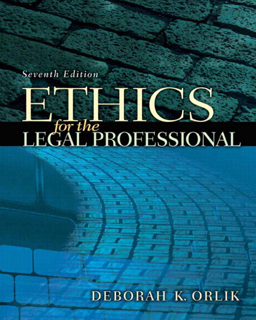 Ethics for the Legal Professional, CourseSmart eTextbook, 7th Edition