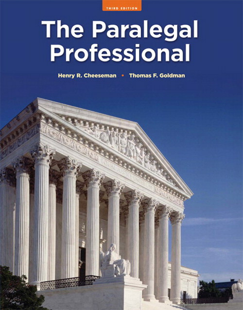 Paralegal Professional, The, CourseSmart eTextbook, 3rd Edition