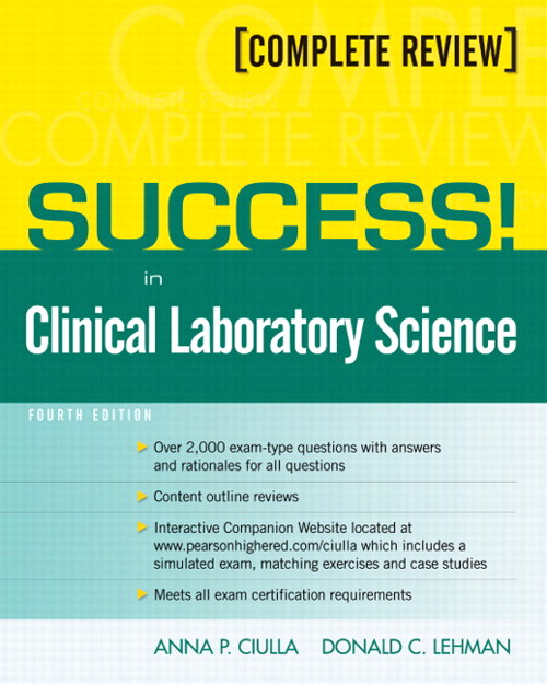 Success! in Clinical Laboratory Science, CourseSmart eTextbook, 4th Edition