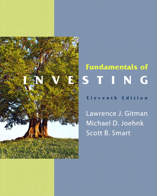 Fundamentals of Investing,  CourseSmart eTextbook, 11th Edition