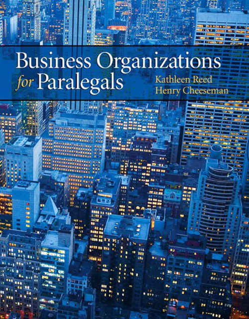 Business Organizations for Paralegals, CourseSmart eTextbook