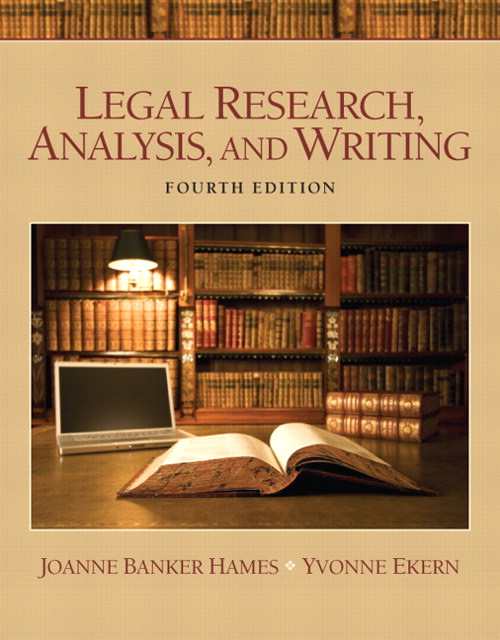 Legal Research, Analysis, and Writing, 4th Edition
