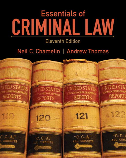 Essentials of Criminal Law, CourseSmart eTextbook, 11th Edition