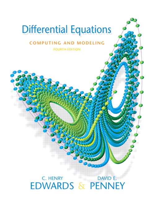 Differential Equations Computing and Modeling Value Package (includes Student Solutions Manual), 4th Edition