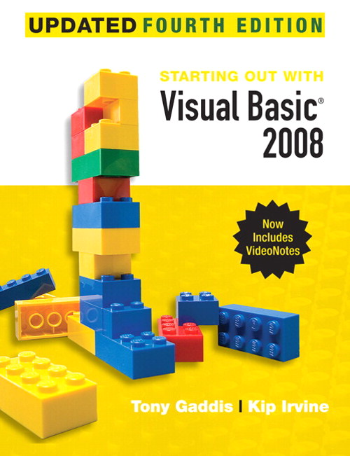 Starting Out With Visual Basic 2008 Update, 4th Edition