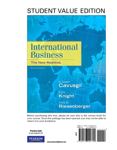 International Business: The New Realities, Student Value Edition, 2nd Edition