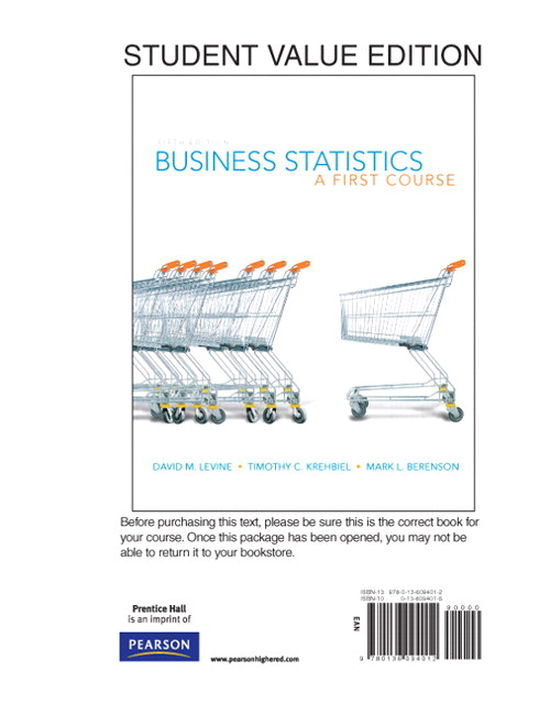 Business Statistics: A First Course, Books a la Carte Edition, 5th Edition