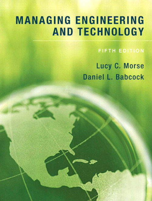 Managing Engineering and Technology: An Introduction to Management for Engineers, CourseSmart eTextbook, 5th Edition
