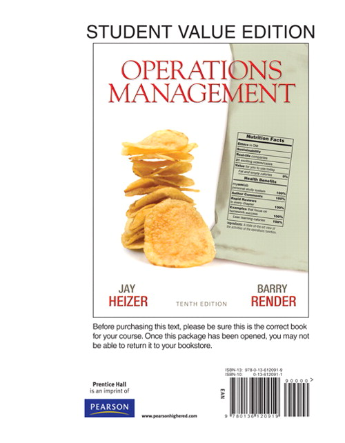 Operations Management, Student Value Edition, 10th Edition
