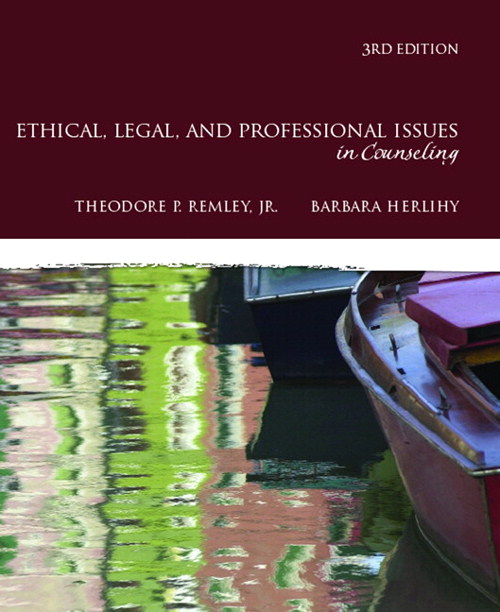 Ethical, Legal, and Professional Issues in Counseling, CourseSmart eTextbook, 3rd Edition