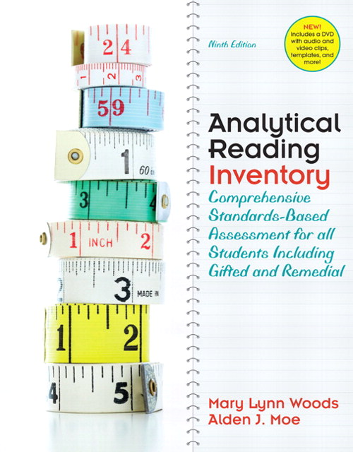 Analytical Reading Inventory: Comprehensive Standards-Based Assessment for all Students including Gifted and Remedial, CourseSmart eTextbook, 9th Edition