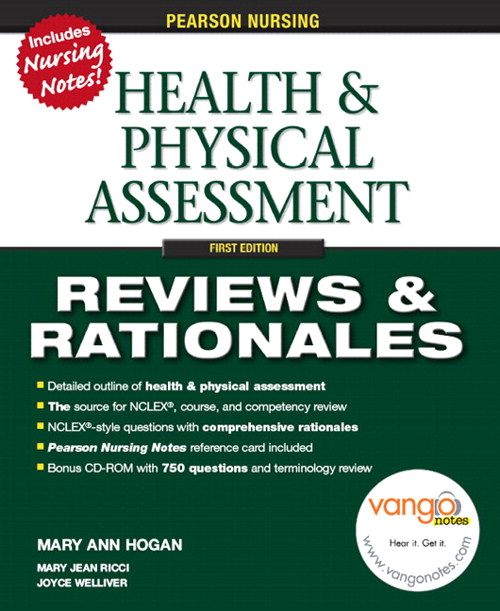 Pearson Nursing Reviews & Rationales: Health & Physical Assessment, CourseSmart eTextbook