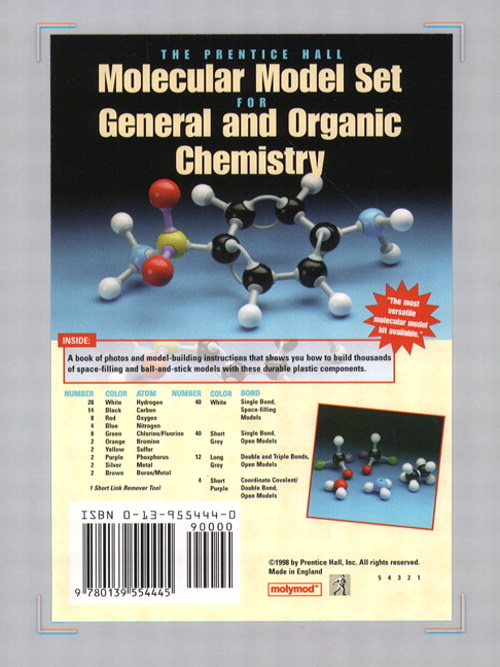 Cover image for Prentice Hall Molecular Model Set for General and Organic Chemistry