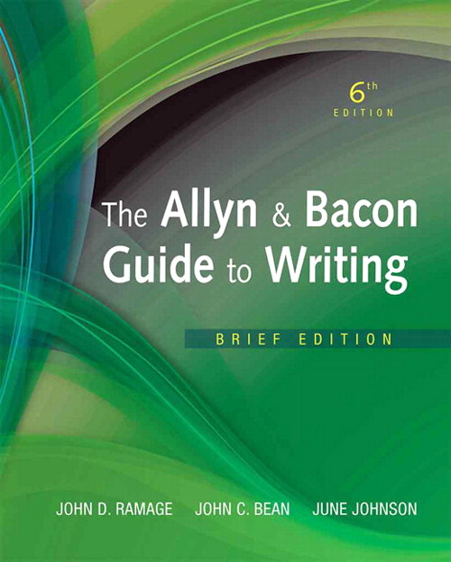 The Allyn & Bacon Guide to Writing, Brief Edition, CourseSmart eTextbook, 6th Edition