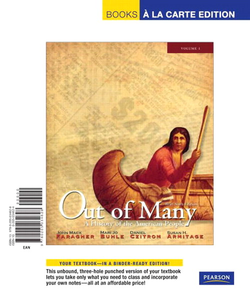Out of Many, Volume 1 Brief Edition, Books a la Carte Edition, 6th Edition