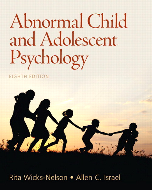Abnormal Child and Adolescent Psycology, CourseSmart eTextbook, 8th Edition