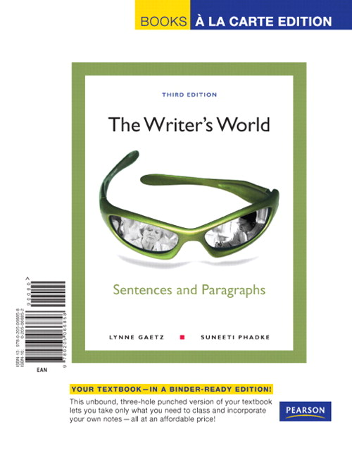Writer's World, The: Sentences and Paragraphs, Books a la Carte Edition, 3rd Edition