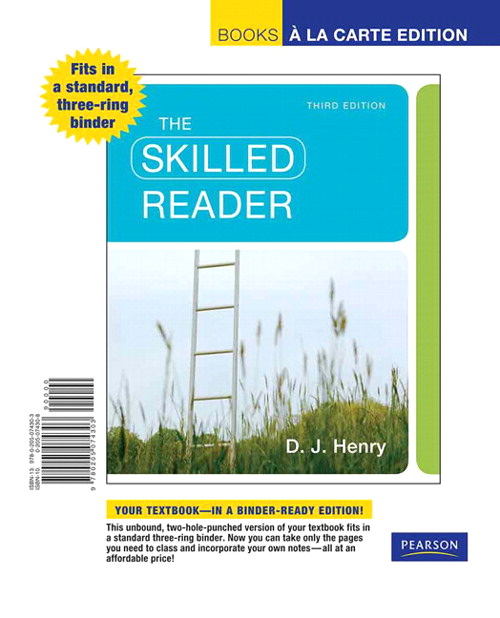 The Skilled Reader, Books a la Carte Edition, 3rd Edition