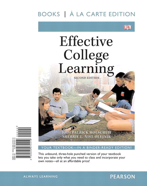 Effective College Learning, Books a la Carte Edition, 2nd Edition