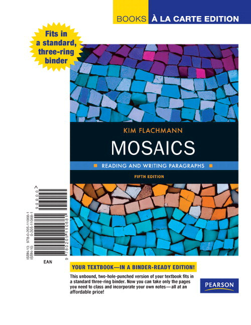 Mosaics: Reading and Writing Paragraphs, Books a la Carte Edition, 5th Edition