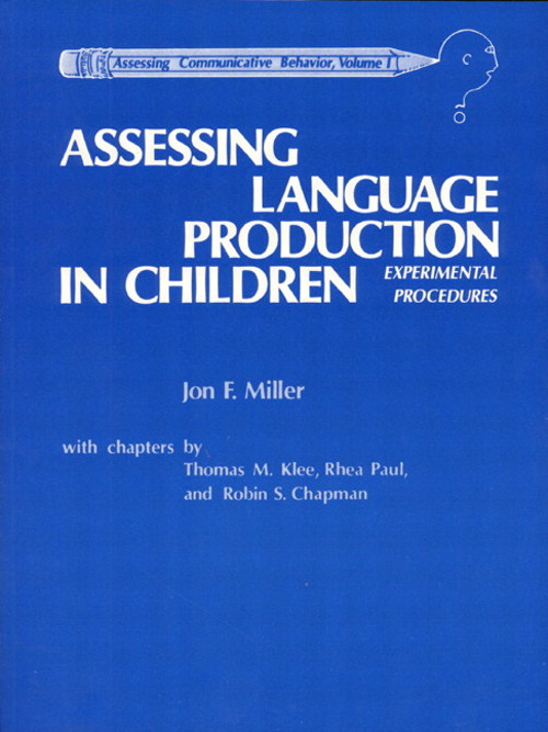 Assessing Language Production in Children: Experimental Procedures