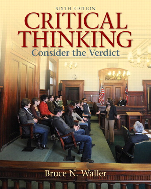 Critical Thinking: Consider the Verdict, CourseSmart eTextbook, 6th Edition