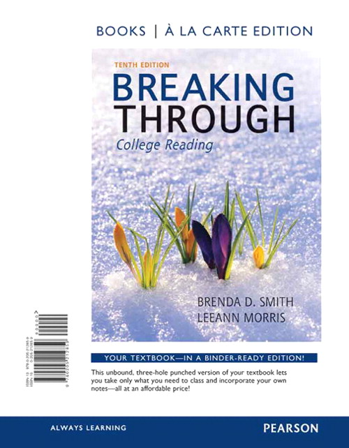 Breaking Through, Book a la Carte Edition, 10th Edition