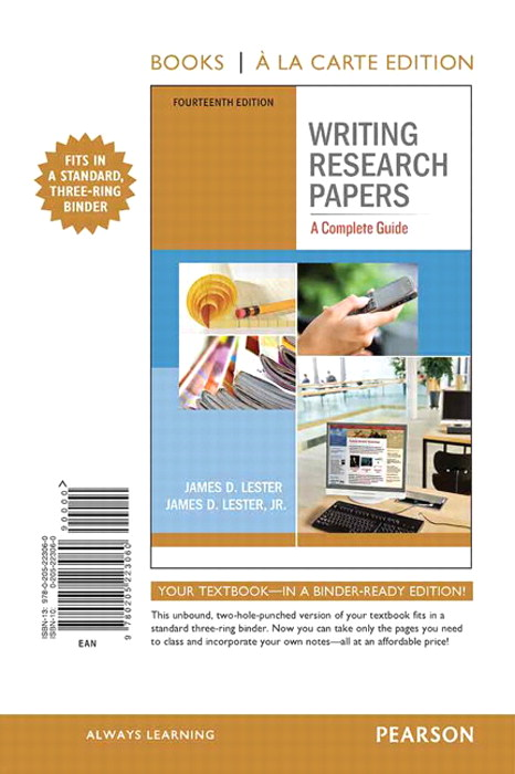 Writing Research Papers: A Complete Guide, Books a la Carte Edition, 14th Edition