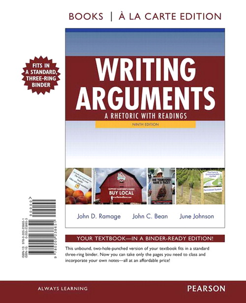 Writing Arguments: A Rhetoric with Readings, Books a la Carte Edition, 9th Edition