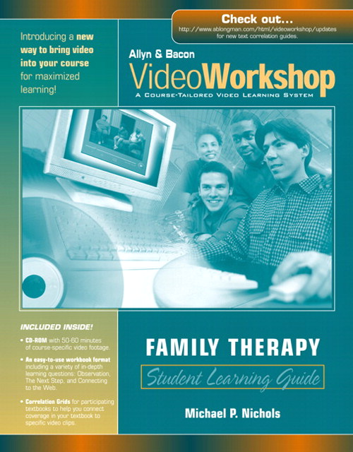 Cover image for VideoWorkshop for Family Therapy: Student Learning Guide with CD-ROM