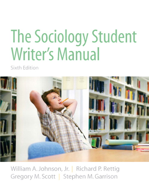 Sociology Student Writer's Manual, The, CourseSmart eTextbook, 6th Edition