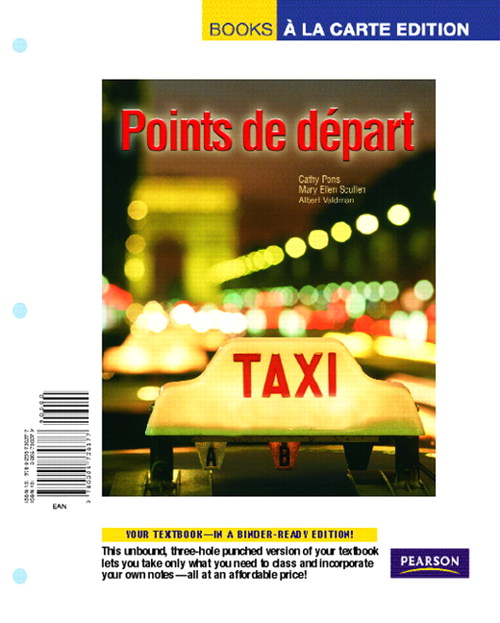 Points de depart, Books a la Carte Edition
