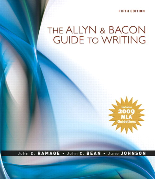 Allyn & Bacon Guide to Writing, The: MLA Update Edition, 5th Edition