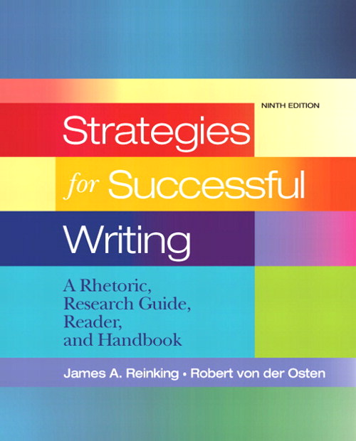 Strategies for Successful Writing: A Rhetoric, Research Guide, Reader and Handbook, CourseSmart eTextbook