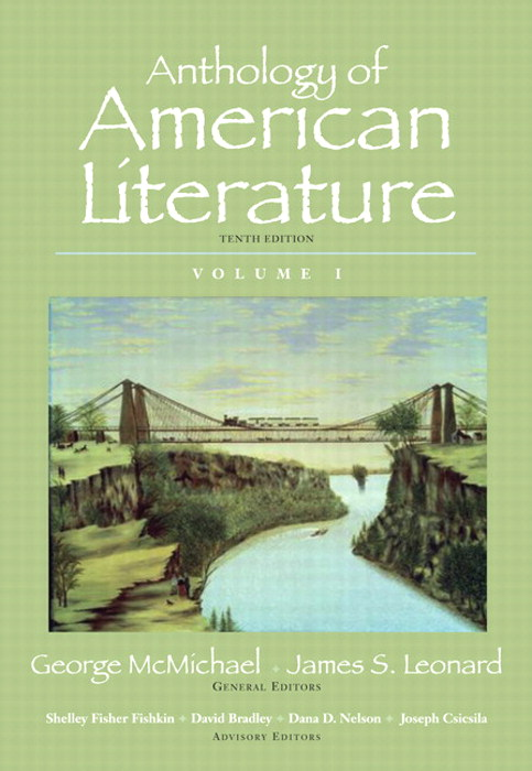 Anthology of American Literature, Volume I, 10th Edition