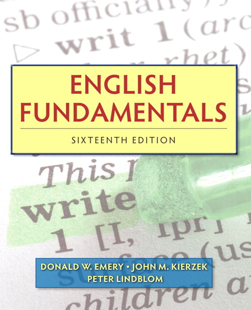 English Fundamentals, CourseSmart eTextbook, 16th Edition