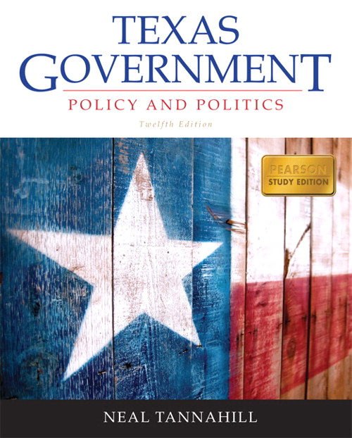 Texas Government, CourseSmart eText, 12th Edition