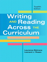 Writing and Reading Across the Curriculum, Brief Edition, 3rd Edition