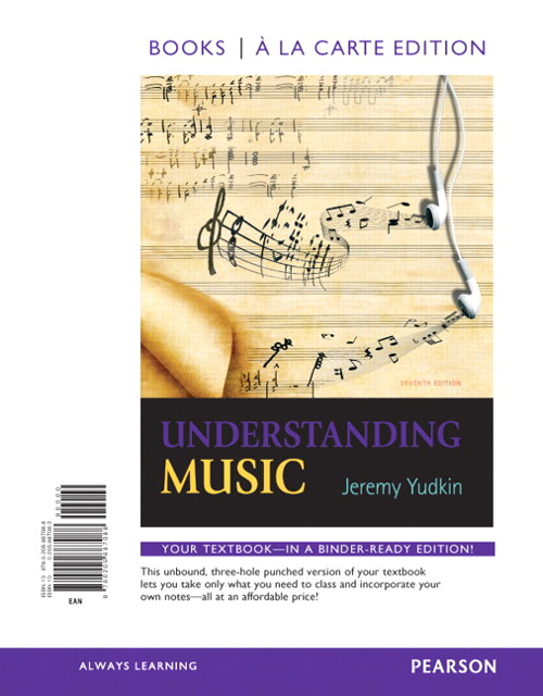 Understanding Music, Books a la Carte Edition, 7th Edition
