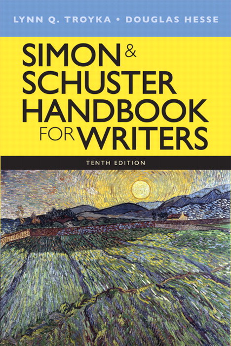 Simon & Schuster Handbook for Writers, CourseSmart eTextbook, 10th Edition