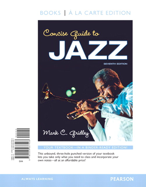 Concise Guide to Jazz, Books a la Carte Edition, 7th Edition