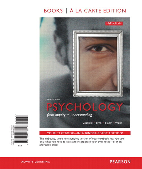 Psychology: From Inquiry to Understanding, Books a la Carte Edition, 3rd Edition