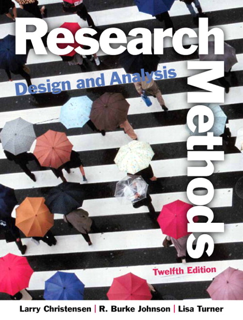 Research Methods, Design, and Analysis, CourseSmart eTextbook, 12th Edition
